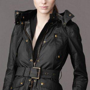 NWOT! Belstaff Hooded Waxed Cotton Jacket